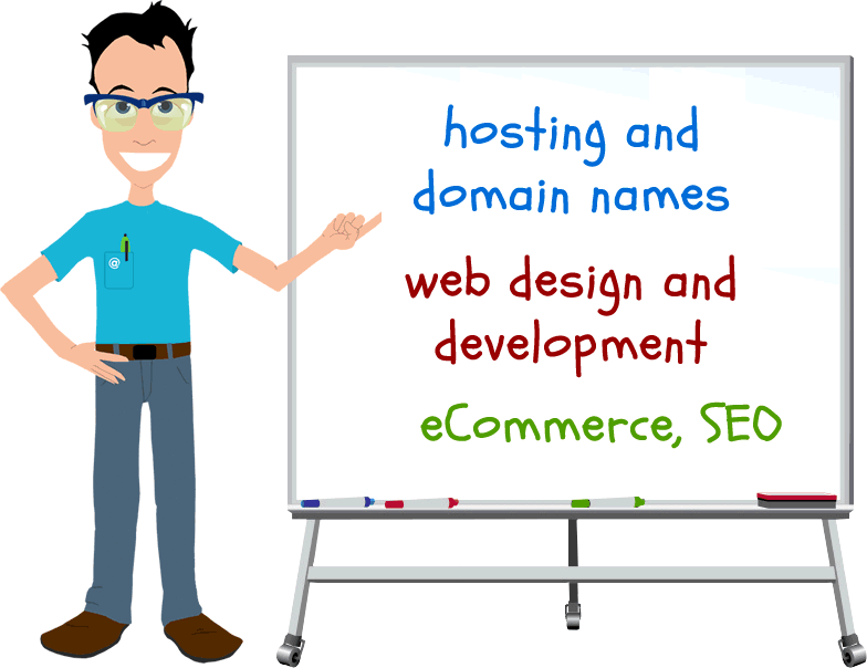 Hosting, Domain Names, SEO, eCommerce, Web Design and Development